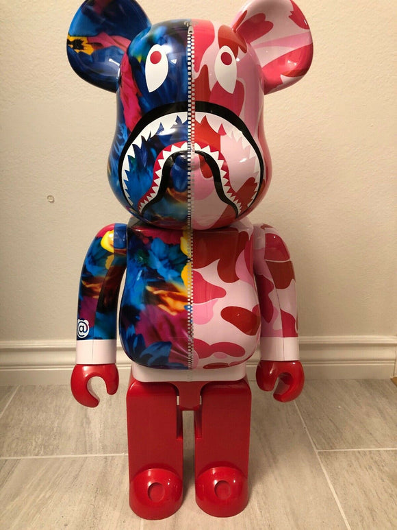 Used Bearbrick BE@RBRICK × mika ninagawa Shark 1000% Pink USA