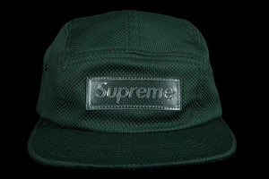 Supreme Nylon Pique Camp Cap Hat Dark Green Box Logo SS18