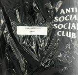 ANTI SOCIAL SOCIAL CLUB ASSC Mind Games Black Hoodie Hoody Size Small