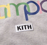 Kith x Champion Capsule Double Logo Tee Heather Gray Size S