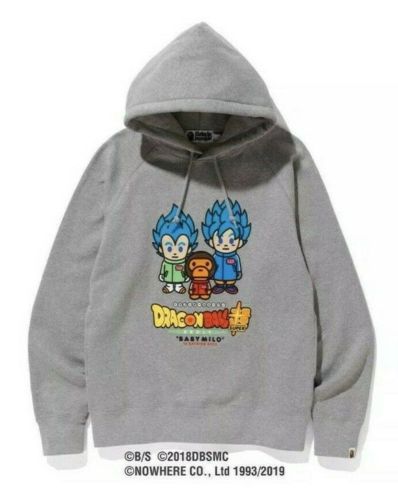 BAPE x Dragon Ball Super Broly Hoodie Gray size SMALL