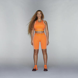 ADIDAS IVY PARK CYCLING SHORTS SOLAR ORANGE