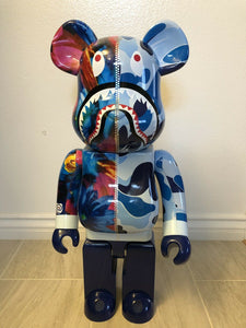 Used Bearbrick BE@RBRICK × mika ninagawa Shark 1000% Blue USA