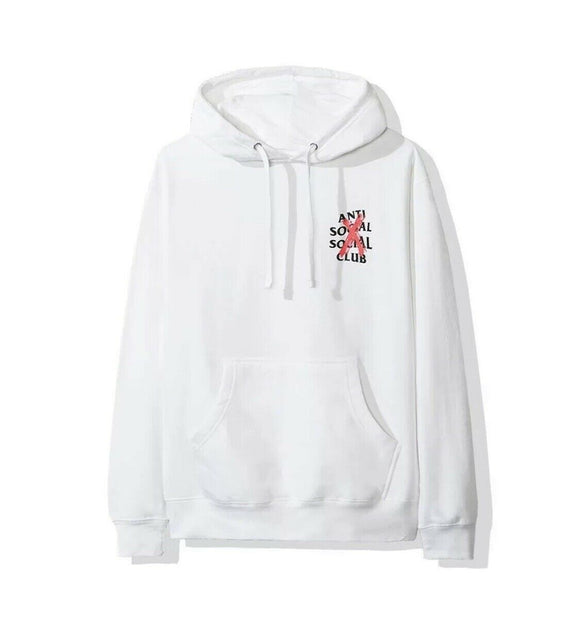 Anti Social Social Club ASSC Cancelled White Hoodie Hoody Small Red/Pink Cross