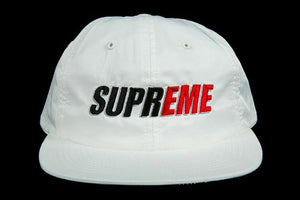 Supreme 2 Tone Nylon 6 Panel Hat Cap Camp White Logo New York NY SS18