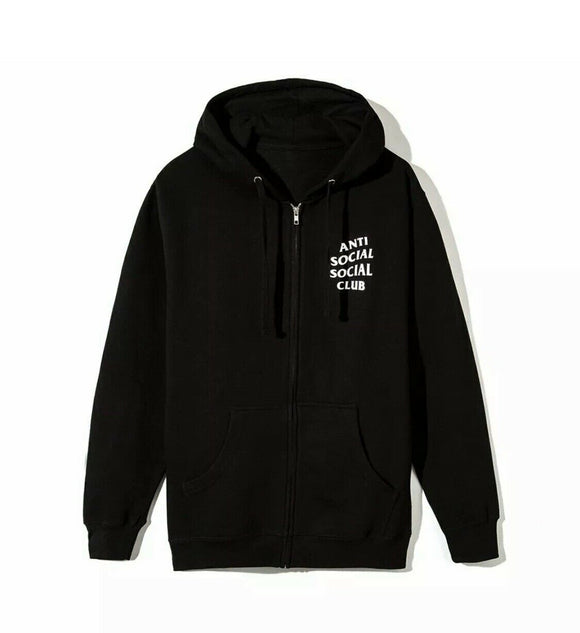 ANTI SOCIAL SOCIAL CLUB ASSC Mind Games Black Zipper Zip Hoodie Hoody Small