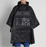 Polo Ralph Lauren Snow Beach Poncho Black & White Collection One Size
