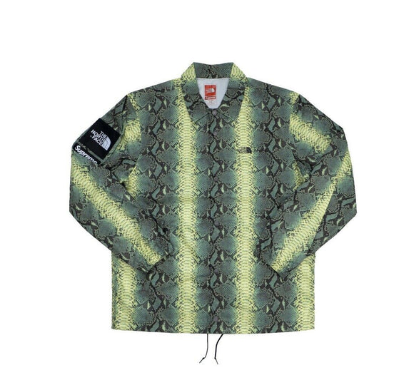 Supreme North Face Snakeskin Taped Seam Size Large L Coaches Jacket Black TNF