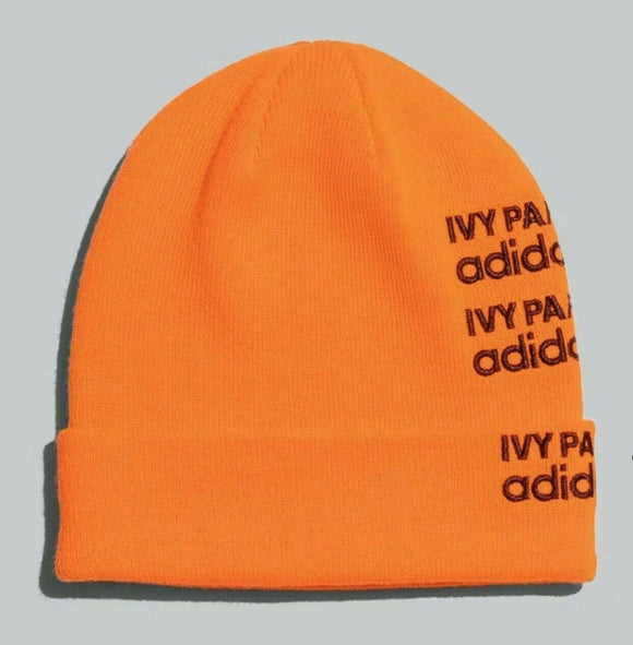 Adidas Ivy Park Logo Beanie Beyonce IN HAND READY TO SHIP GK7384 Solar Orange