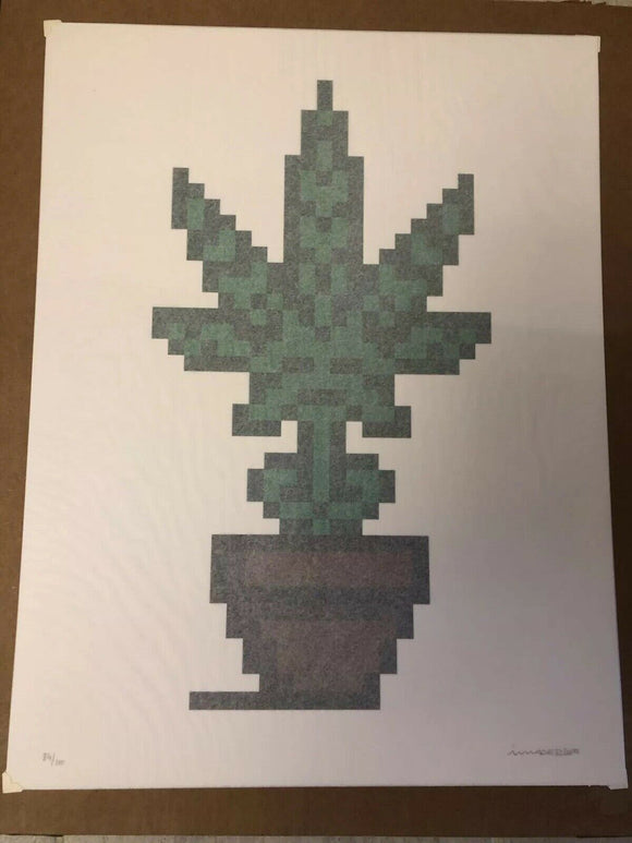 Space Invader Hollyweed Print Brown ComplexCon 2018, Signed and Numbered