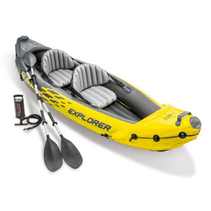 Intex Explorer K2 Inflatable Kayak with Oars and Hand Pump