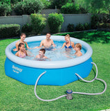 Bestway Fast Set 10 x 30 Above Ground Pool Set with Filter Pump
