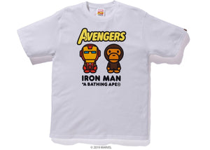 BAPE MARVEL MILO IRON MAN TEE WHITE