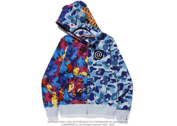 BAPE MIKA NINAGAWA BEAR SHARK FULL ZIP HOODIE BLUE