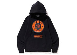 BAPE XO THE WEEKEND ASIA STAFF BUSY WORK PULLOVER HOODIE BLACK