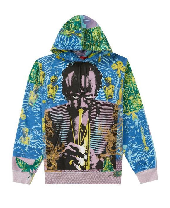SUPREME MILES DAVIS HOODED SWEATSHIRT BLUE