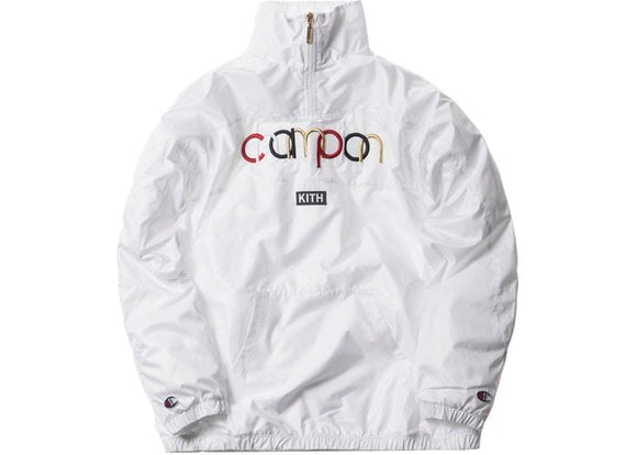 KITH CHAMPION QUARTER ZIP WHITE