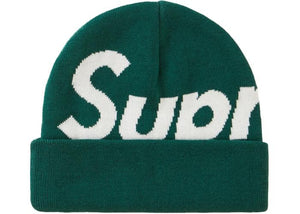 SUPREME BIG LOGO BEANIE DARK GREEN