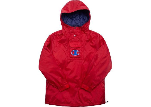 KITH CHAMPION PULLOVER PARKA RED