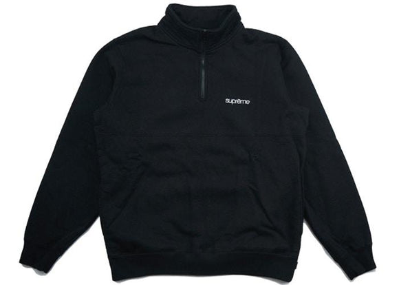SUPREME COLOR BLOCKED HALF ZIP BLACK