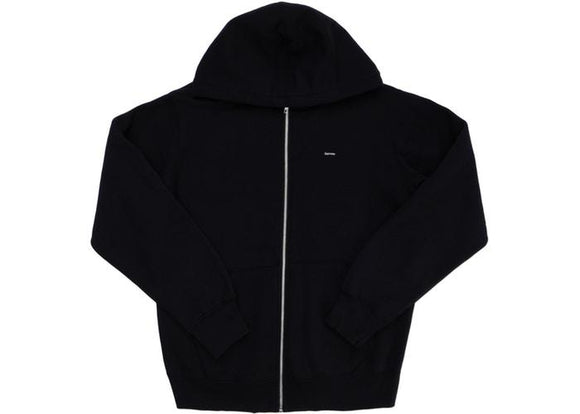 SUPREME CONTRAST ZIP UP HOODED BLACK