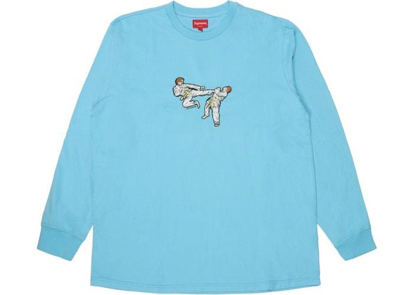 SUPREME KARATE TEE LIGHT BLUE