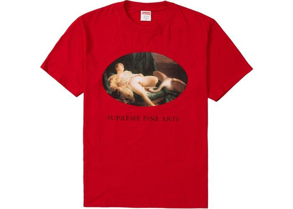 SUPREME LEDA &THE SWAN TEE RED
