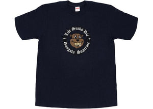 SUPREME LIFE SUCKS DIE TEE NAVY