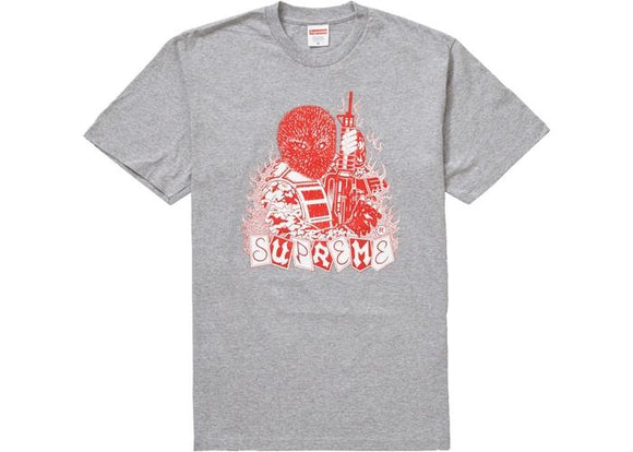 SUPREME MERCENARY TEE HEATHER GREY