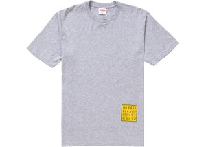 SUPREME MIDDLE FINGER TO THE WORLD TEE HEATHER GREY