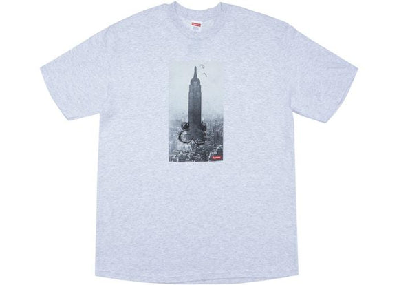SUPREME MIKE KELLY THE EMPIRE STATE BUILDING TEE ASH GREY