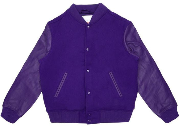 SUPREME MOTION LOGO VARSITY JACKET PURPLE