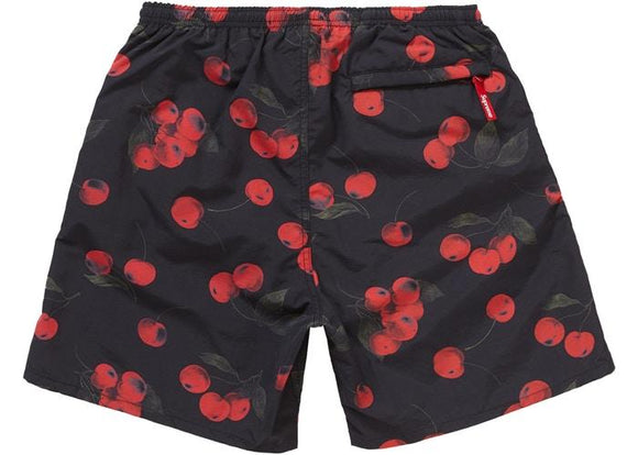 SUPREME NYLON WATER SHORTS BLACK CHERRY