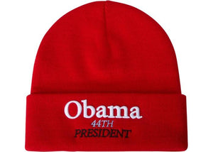 SUPREME OBAMA BEANIE RED