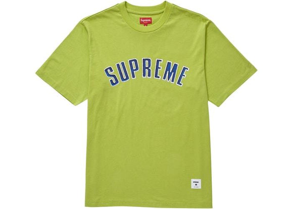 SUPREME PRINTED ARC S/S ARC TOP LIME