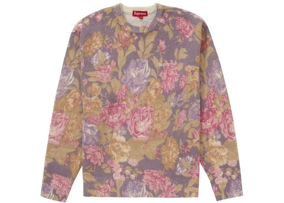 SUPREME PRINTED FLORAL ANGORA SWEATER