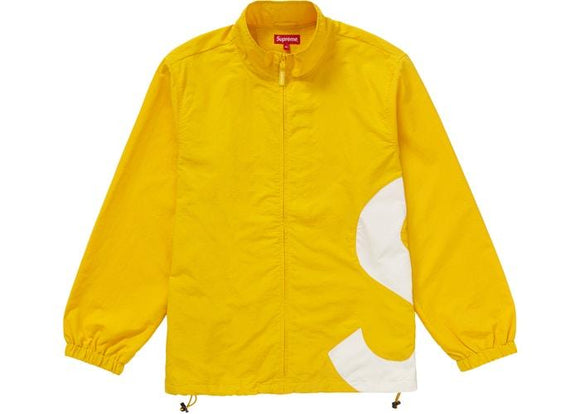 SUPREME S LOGO TRACK JACKET YELLOW