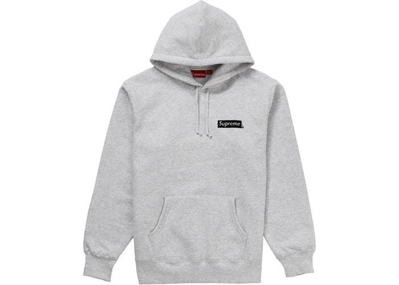 SUPREME STOP CRYING HOODIE ASH GREY