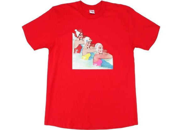 SUPREME SWIMMER TEE RED