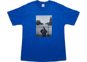 SUPREME PUBLIC ENEMY WHITE HOUSE TEE ROYAL BLUE