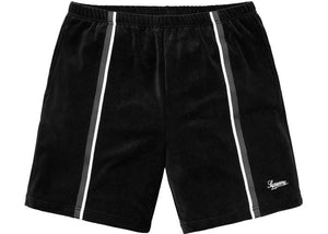 SUPREME VELOUR WARM UP SHORT BLACK