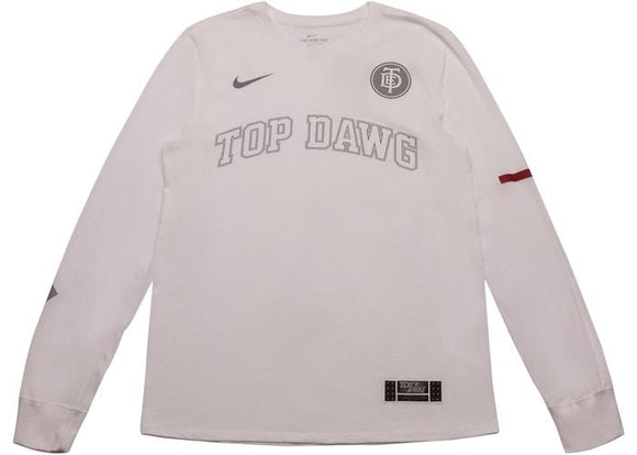 NIKE X TDE TOP DAWG LONG SLEEVE WHITE