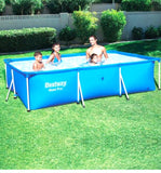 Bestway 7ft 3in x 59in x 17in Steel Pro Rectangular Above Ground Swimming Pool