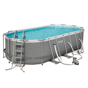 Bestway Power 18ft x 9ft x 48in Above Ground Pool Set with Pump