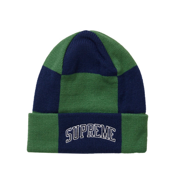 SUPREME CHECKERBOARD BEANIE GREEN
