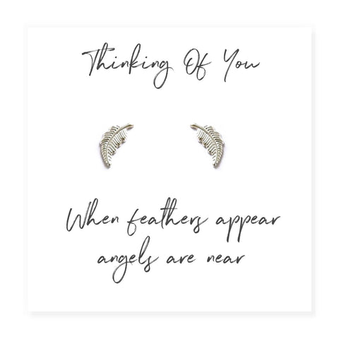 Sterling Silver Angel Feather Earrings - Hello Chestnut