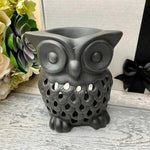 Black Ceramic Owl Oil Burner - Hello Chestnut