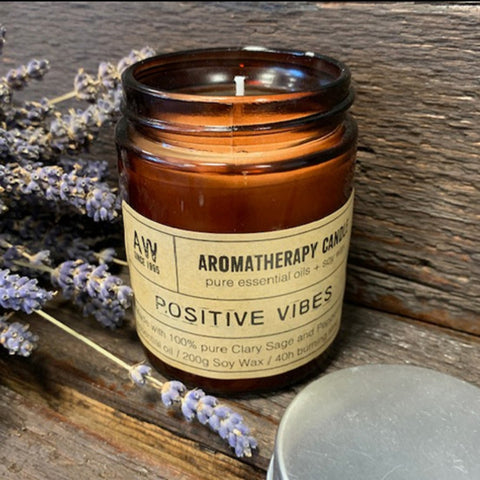 Positive Vibes Aromatherapy Candle - Hello Chestnut