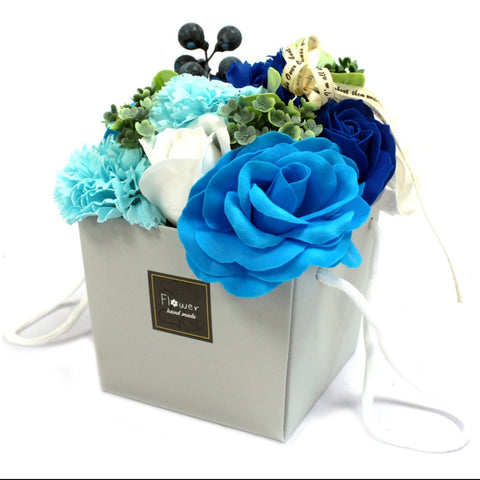 Blue Wedding Flower Soap Bouquet - Hello Chestnut