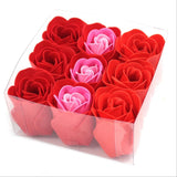 Set Of 9 Red Rose Soap Flowers Box - Hello Chestnut